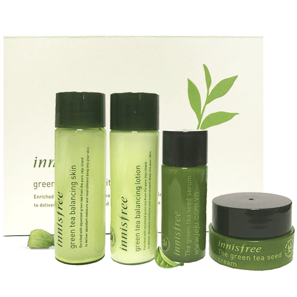 Kết quả hình ảnh cho green tea special kit innisfree 4 món