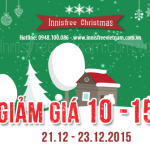 GIẢM GIÁ 10%-15% – 21.12-23.12.2015