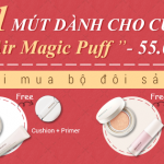 Tặng 1 Bông Mút Dành Cho Cushion – Air Magic Puff