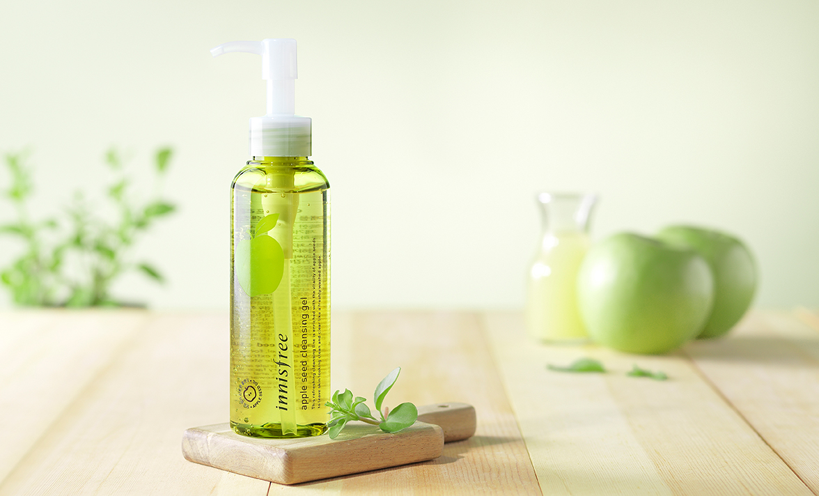 innisfree apple seed cleansing gel-1