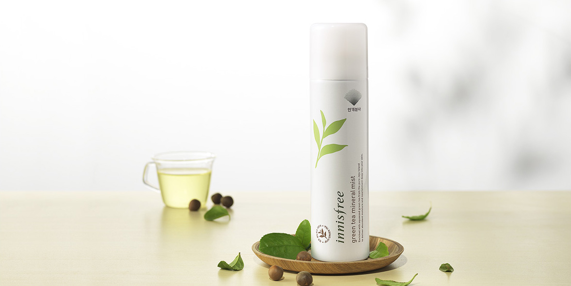 innisfree green tea mineral mist 120ml