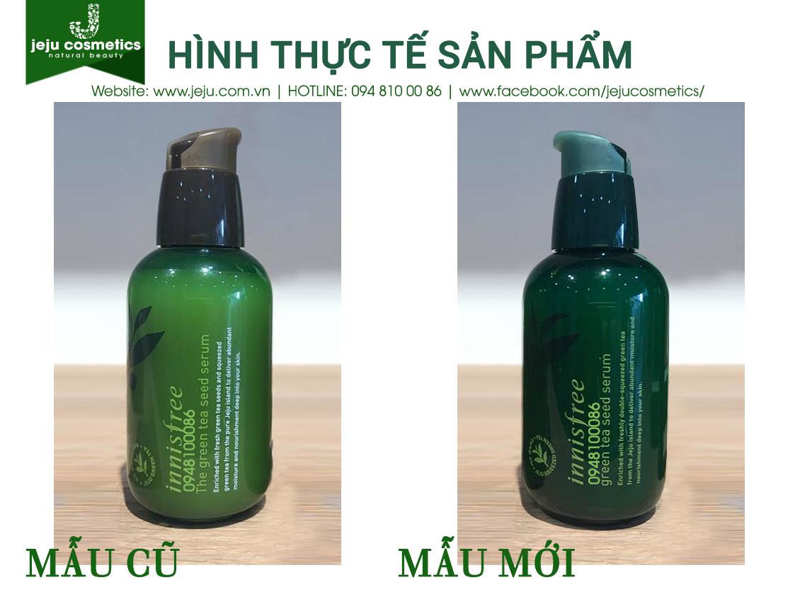 Mu Mi Serum Tr Xanh Innisfree Green Tea Seed 80ml The Trong Phin Bn Ln Ny C S Thay I V Bao B Nng Cao Hn Thnh Phn