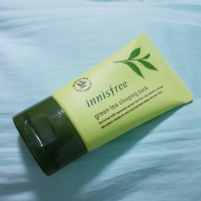 Mẫu Thử Mặt Nạ Ngủ Trà Xanh Innisfree Green Tea Sleeping Pack 30ml
